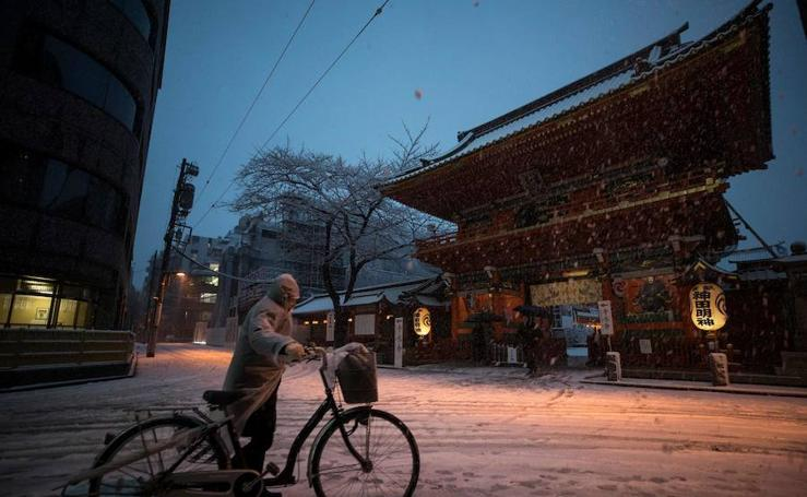 Imágenes de la nieve en Japón