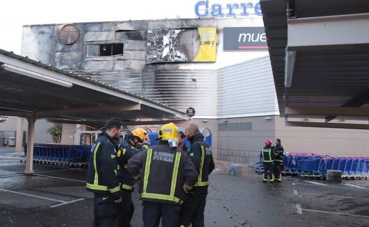 Así ha quedado el Carrefour Alameda tras el incendio