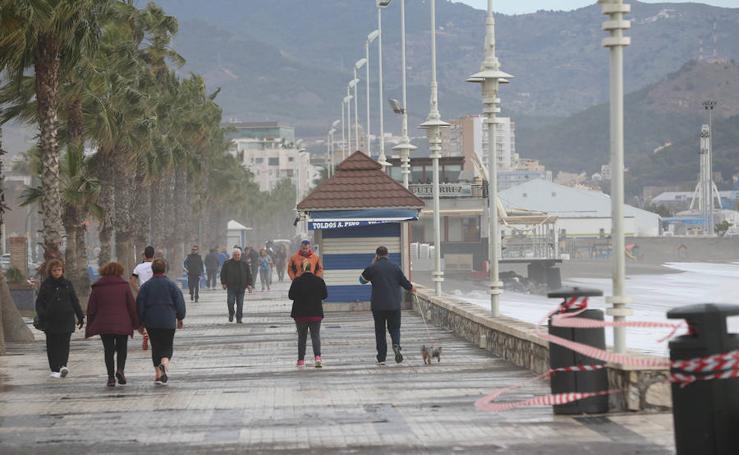 Así se encuentran las playas de Málaga tras el temporal