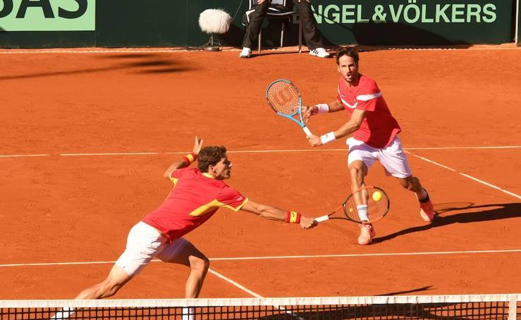 El partido de dobles de la Copa Davis, en imágenes