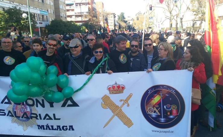 Manifestación por la equiparación salarial de las fuerzas de seguridad