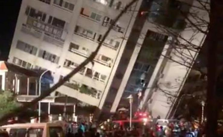 Las impactantes imágenes del terremoto de Taiwan