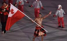 El abanderado de Tonga, estrella de la ceremonia de inauguración