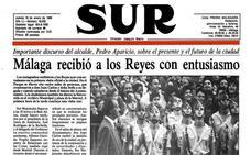 Aquella primera visita oficial de los Reyes a Málaga