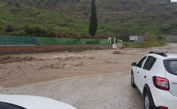 Así está siendo el temporal en Málaga en imágenes este viernes
