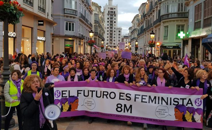 El 8M en Málaga, en fotos