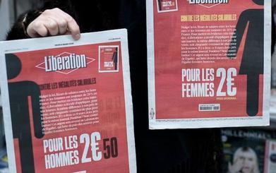 El diario francés 'Libération' cuesta hoy más para los hombres para denunciar la brecha salarial
