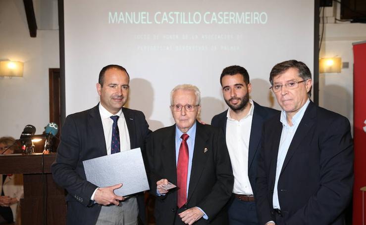 Manuel Castillo Casermeiro, primer socio de honor de la Asociación de Periodistas Deportivos de Málaga