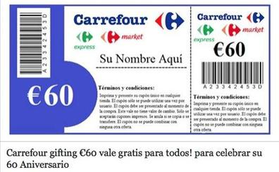 El bulo del vale de 60 euros de Carrefour