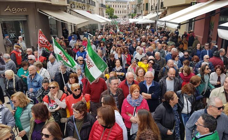 Fotos de la manifestación por unas pensiones dignas en Málaga