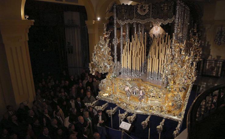 El estreno del trono de la Paloma