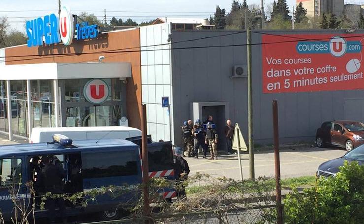 Toma de rehenes en un supermercado en el sur de Francia