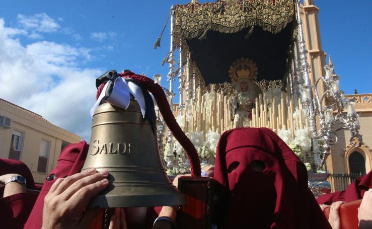 Salud procesiona en la tarde del Domingo de Ramos