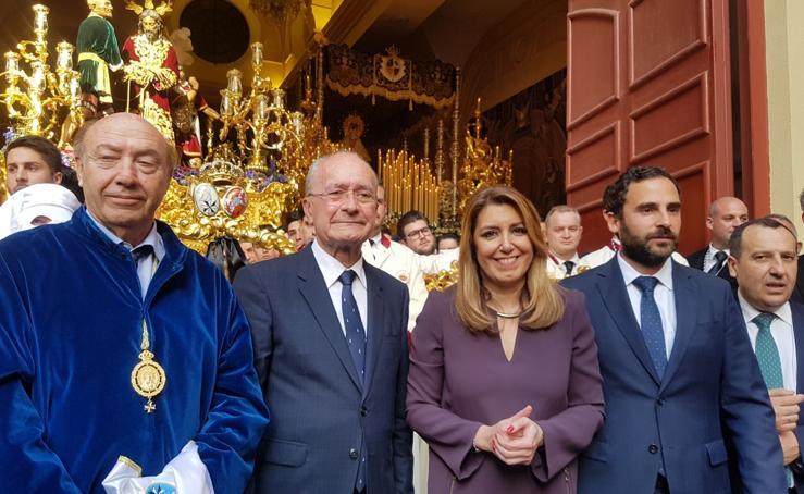 Tres ministros y la presidenta de la Junta asisten hoy a la Semana Santa de Málaga