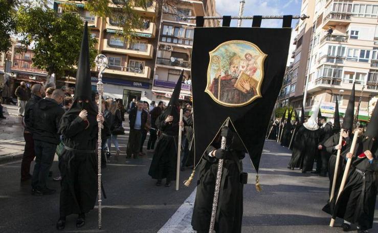 El Cristo del Amor y la Virgen de la Caridad en el Viernes Santo de Málaga 2018