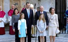 Don Juan Carlos reaparece con los Reyes y Doña Sofía en la misa de Pascua