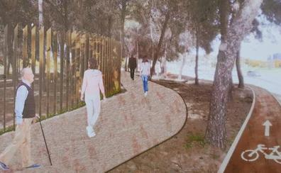 El parque del Campamento Benítez se completa con carriles bici y nuevos accesos