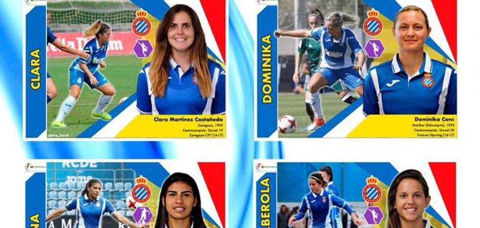 Una madre inventa para sus hijas un álbum de cromos de la Liga femenina española de fútbol