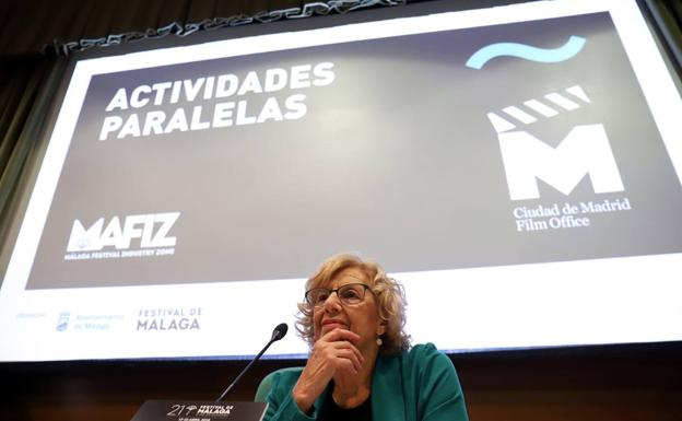 Manuela Carmena, mostró su recién creada Madrid Film Office