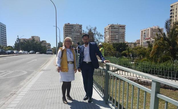 El Ayuntamiento De Málaga Destina 180 000 Euros A La Mejora Del Puente De Las Américas Que Finalizará En Junio Diario Sur