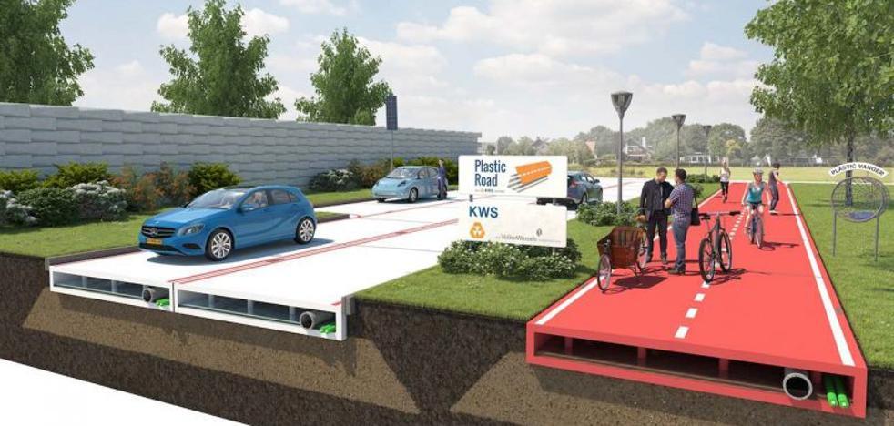 Las carreteras del futuro, ¿hechas de plástico?