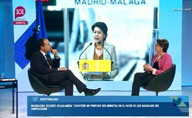 Magdalena Álvarez, en el programa 'La Alameda'