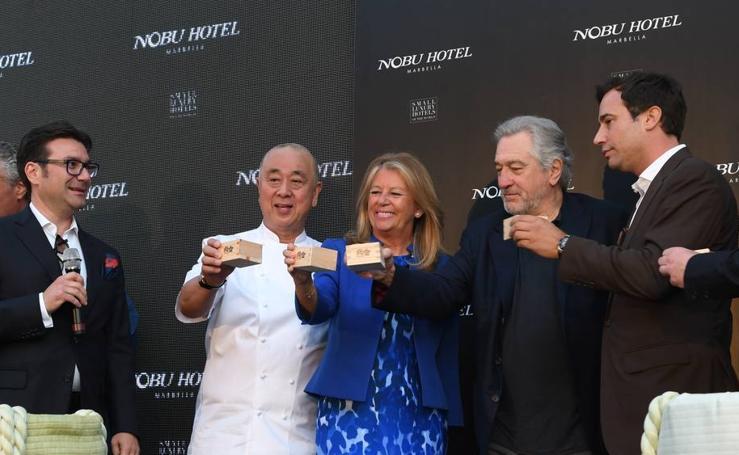 Inauguración y ceremonia del sake del nuevo hotel de Nobu en Marbella con Robert de Niro