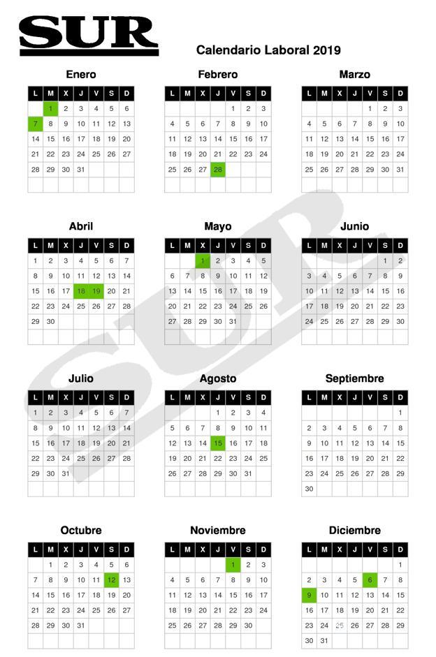 Calendario Laboral 2019 Andalucia.Calendario De Fiestas Laborales Para 2019 Cuales Son Los Dias