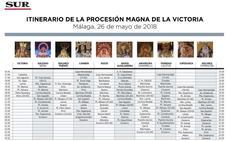 Descarga aquí el itinerario de la Procesión Magna de la Victoria 2018