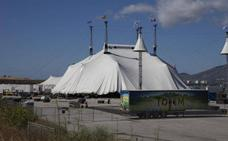 El Circo del Sol levanta su gran carpa en Málaga