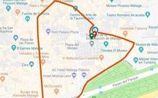 Mapa con el recorrido de cada virgen en la Magna de Málaga