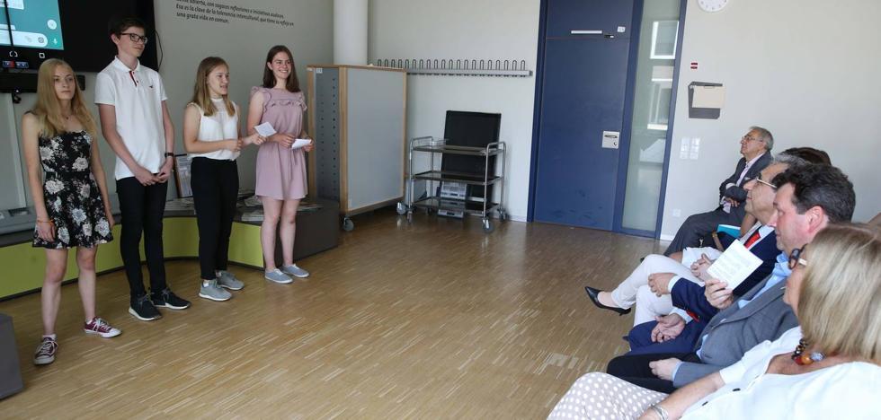 Autoridades universitarias de Dresde y Málaga presentan en la capital de Sajonia una nueva experiencia educativa digital