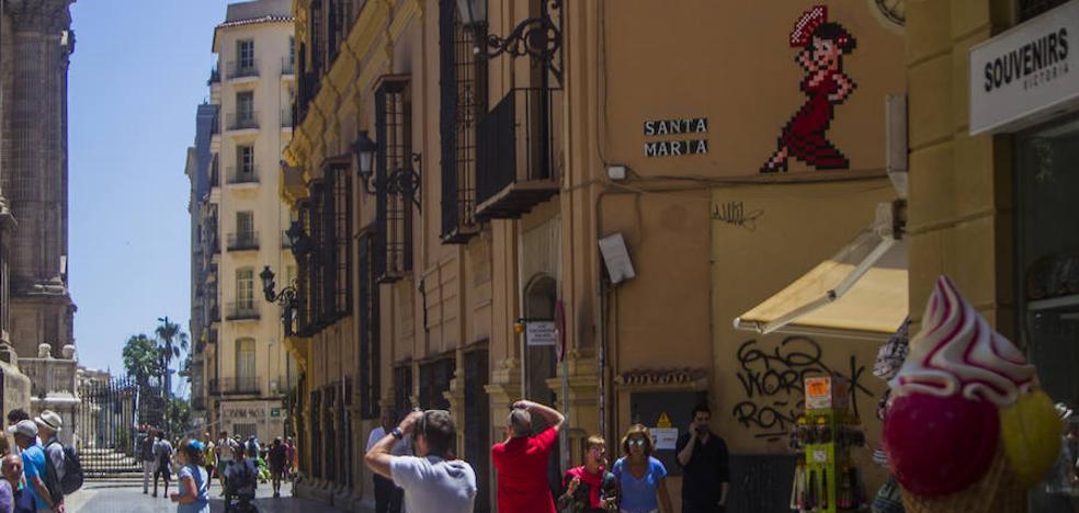 La paradoja de Invader en Málaga