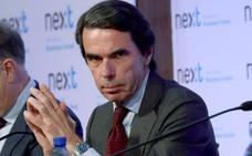 Aznar se ofrece para reconstruir el «dividido» centroderecha