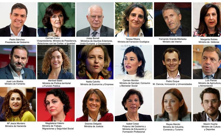 El Gobierno de Pedro Sánchez, en imágenes y al detalle