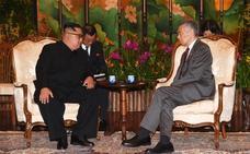 Kim Jong-un se reúne con el primer ministro de Singapur