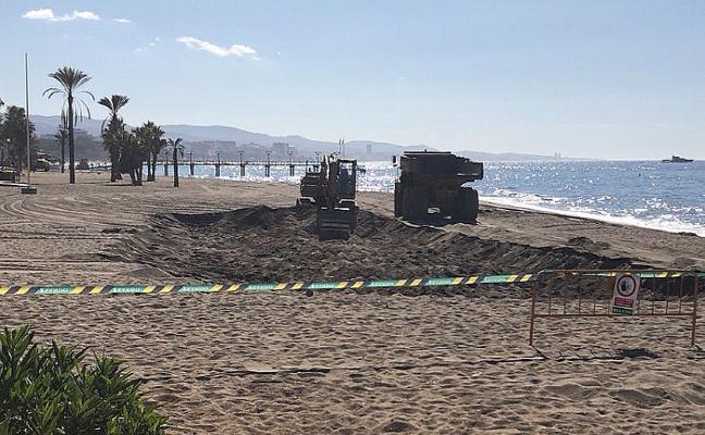 Los trabajos de regeneración de las playas avanzan hacia Casablanca