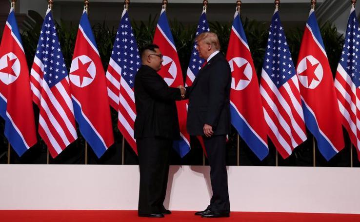 El histórico encuentro de Trump y Kim Jong-un, en imágenes