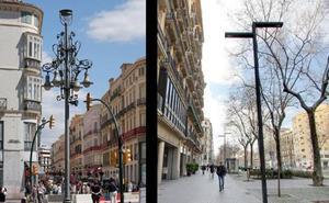 De la Torre defiende las nuevas farolas de La Alameda «por cuestión energética» y «para no poner obstáculos en la visión» de los edificios