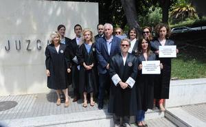 Letrados de la Administración de Justicia, concentrados en los juzgados de Marbella