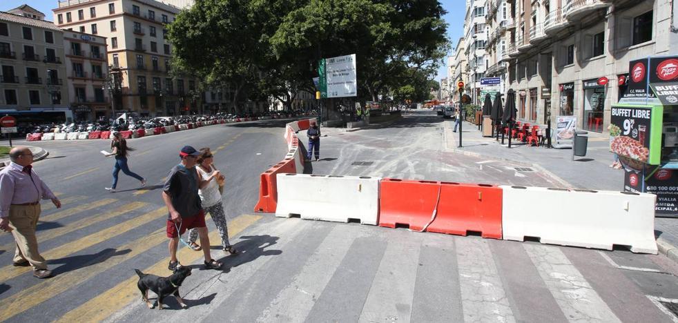 La Alameda Principal de Málaga quedará cortada al tráfico privado a partir de este próximo lunes