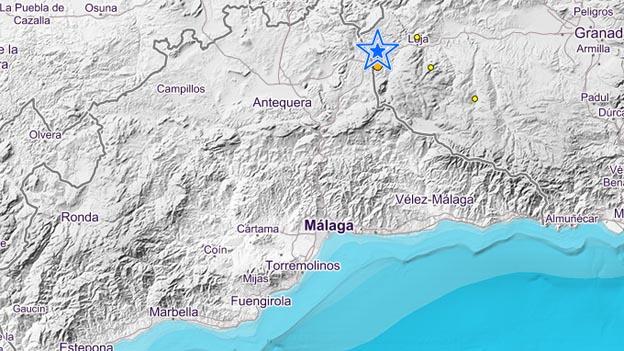 Un terremoto de 4.1 grados en Loja se deja sentir en Málaga