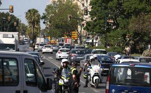 Colapso en la Alameda Principal por los cortes de tráfico: «Esto se veía venir»