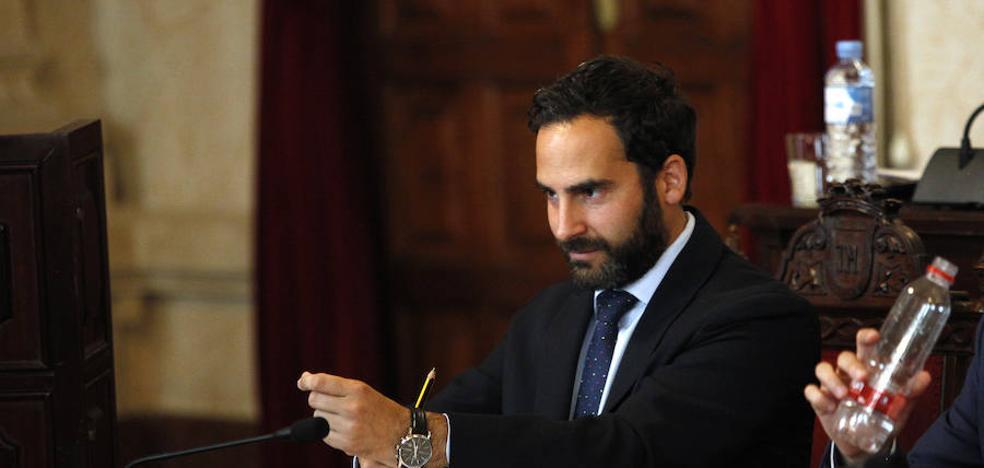 Daniel Pérez, en el papel de candidato