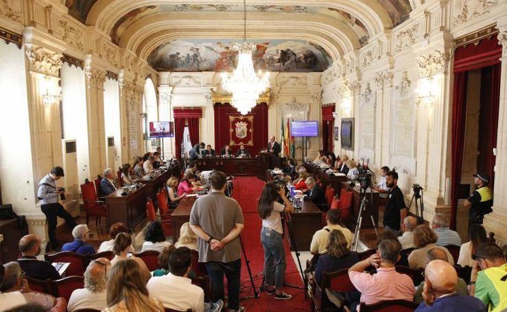 Debate del estado de la ciudad en el Ayuntamiento de Málaga