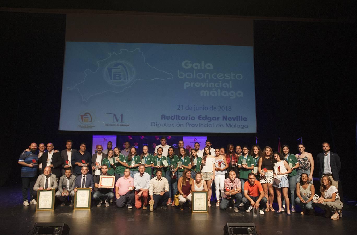 Gala provincial del baloncesto malagueño 2017-2018