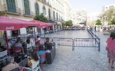 Acotan parte de la plaza de la Merced por riesgo de desprendimientos