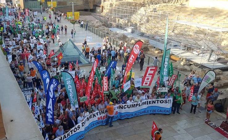 Manifestación contra las carencias de la sanidad pública de Málaga