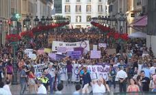 Repulsa a la puesta en libertad de 'La Manada' en las calles de Málaga