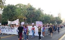 Así ha sido la protesta contra la libertad de 'La Manada' en Málaga